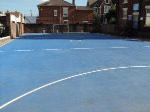 Ball Court Marking Line Painting Wet Pour Road Cycle Tracks Portsmouth Hampshire Surrey Sussex Colour Coatings Sports Halls Playgrounds