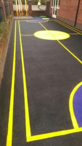 David Lloyd Fitness Centre Solihull Line Marking Painting Portsmouth Hampshire Surrey Sussex Car Parks Polymeric Colour Coatings Sports Halls