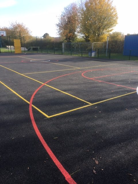 Ball Court London - Ball Court Marking Line Painting - Portsmouth Hampshire Surrey Sussex Car Parks Polymeric Colour Coatings Sports Halls Playgrounds
