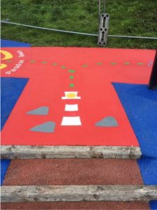 Playground Lee-on-Solent Hampshire - Marking - Thermoplastic - Painting Portsmouth Hampshire Surrey Sussex - Polymeric Colour Coatings Sports Halls