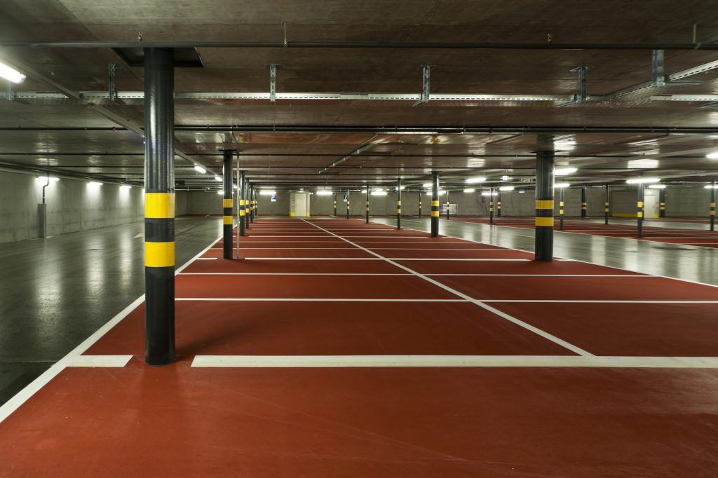 Parkmarks Southern Line Painting Portsmouth Hampshire Surrey Sussex - Car Parks Polymeric Colour Coatings Sports Halls Playgrounds Thermoplastic Commercial