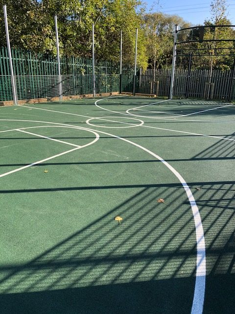 Polymeric Coating North London Ball Court Marking Hampshire Surrey Sussex Car Parks Polymeric Colour Coatings Sports Halls Playgrounds