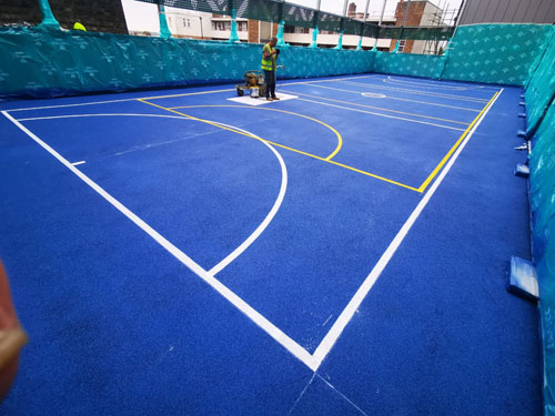 Ball Court Line Marking Croydon Marking Painting Hampshire Surrey Sussex Car Parks Polymeric Colour Coatings Sports Halls Playgrounds